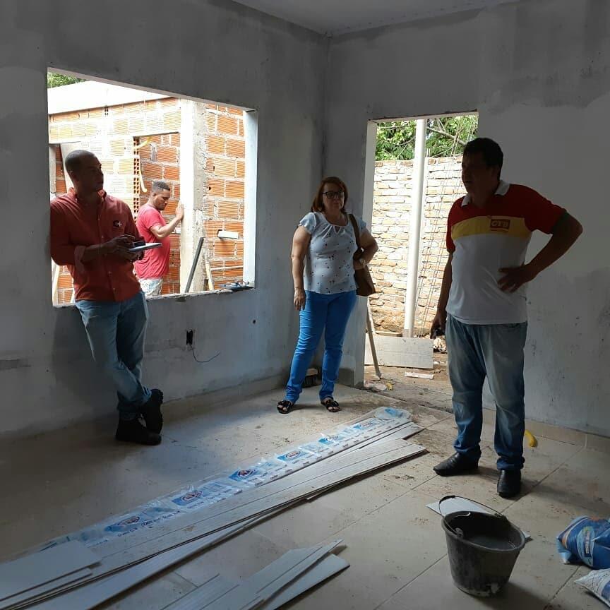 Reforma do prédio próprio do SINSERV. Foto cedida pela Diretoria.
